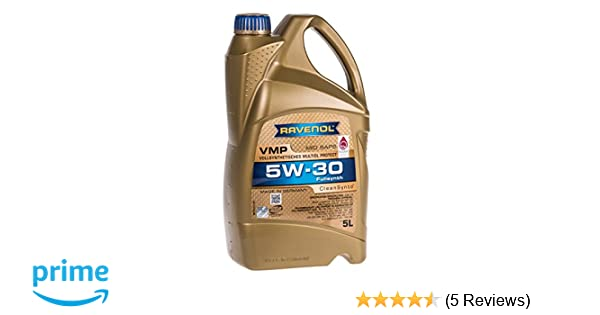 Amazon.com: RAVENOL J1A1520 VMP 5W-30 Fully Synthetic Motor Oil (5 Liter): Automotive