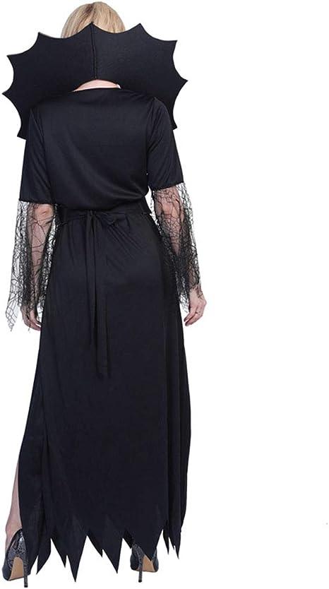 XIXICLOTHES Disfraz de Bruja gótica de Bruja Viuda Negra para ...