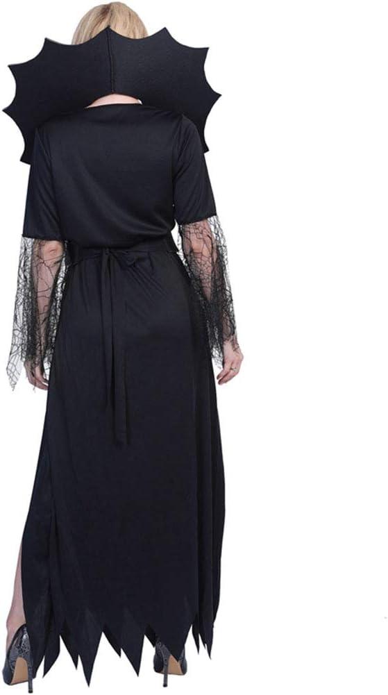 Ladies Black Raven Witch Fancy Dress Gothic Halloween Hag Costume