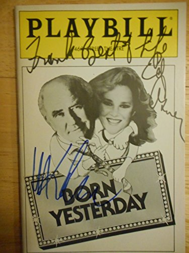 (Madeline Kahn and Edward Asner ( Inscribed ) and Gregory Jbara Signed Playbill from Born Yesterday a Broadway Revival at the 46th Street Theatre starring Edward Asner Madeline Kahn Daniel Hugh Kelly Franklin Cover Gregory Jbara has a small part and understudied in this production. Written by Garson Kanin )