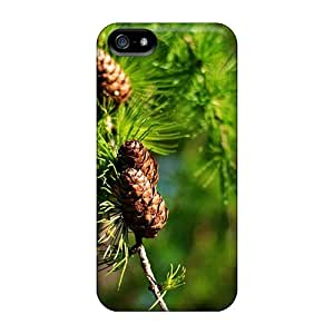 New Snap-on Mwaerke Skin Case Cover Compatible With Iphone 5/5s- Nature Plants Fir Cone