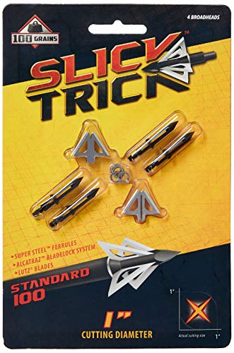 Slick Trick Standard 100 GR Broadhead (Pack of 4), 1