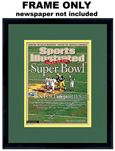 Sports Illustrated Magazine Frame - with Green Bay Packers Colors Double Mat]()