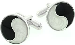 product image for JJ Weston Yin and Yang Cufflinks. Made in the USA.