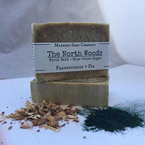 Frankincense and Fir Essential Oils, Birch Bark and Blue-Green Algae. The North Woods, Moisturizing Handmade Organic Shea Butter Soap. Free Shipping. …