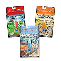 Melissa y Doug Water Wow! Color reutilizable con paquete de actividades acuáticas, paquete de 3, granja, safari, bajo el mar (gran regalo para niñas y niños: el mejor para niños de 3, 4, 5, 6 y 7 años)