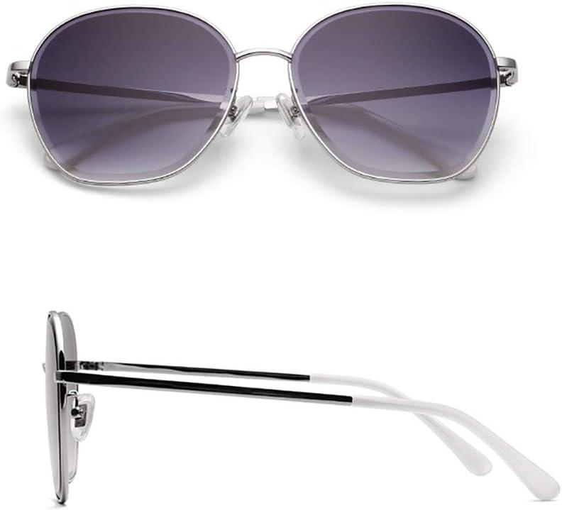 AHAQ Gafas de Sol de Moda, polarizador Neutro, protección UV, Adecuado para Conducir, Pescar, Esquiar,Plata