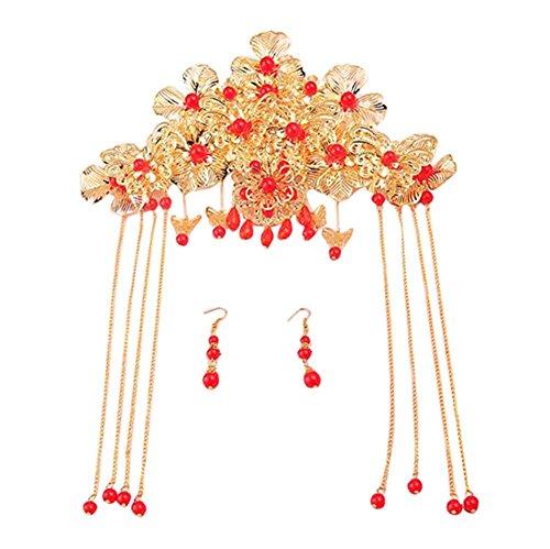 Beautiful Jewellery Chinese (Bridal Tiara Chinese Ancient Clothing Wedding Jewelry Beautiful Headdress-C4)