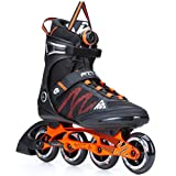 K2 Skate Men's F.I.T Boa Inline Skates, Black/Orange, 8