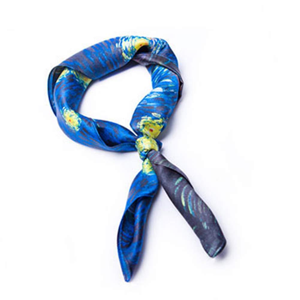 7G YANGJUN Neckties Scarf Business Leisure Fashion Soft Accessories Office Wedding Gift Retro, 7 colors (color   5E, Size   52x52cm)