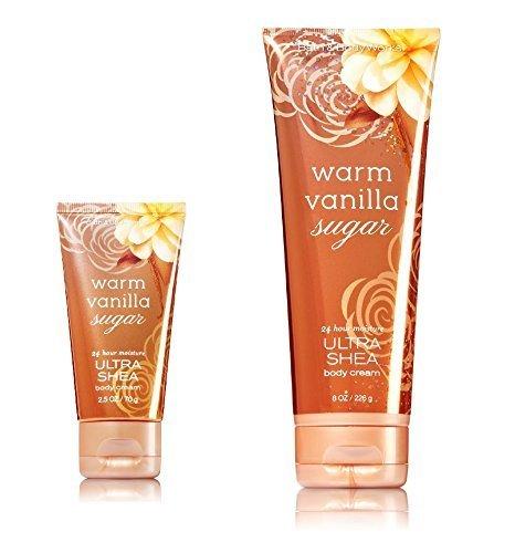 Bath & Body Works One for home & One for Travel – ULTRA SHEA Body Cream Set – Warm Vanilla (Warm Vanilla Sugar Hand Cream)
