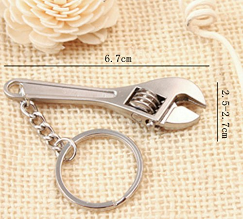 Zinc Alloy Silver Plated Changeable Spanner Keychain Fashion Wrench Key Chain Creative Keyfob Tools