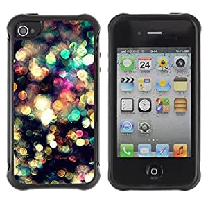 KROKK CASE Apple Iphone 4 / 4S - water reflection glitter sun surf summer - Funda Carcasa Bumper con Absorción de Impactos y Anti-Arañazos Espalda Slim Rugged Armor