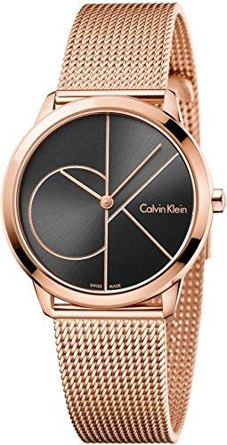 Calvin Klein Minimal Rose Gold Tone 35mm Women's Watch K3M22621 by Calvin Klein