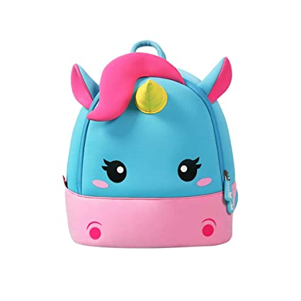 00f461f86a17 NOHOO Toddler Kids Backpack Child Cute Zoo Sidekick bag Preschool Cartoon  Unicorn Backpack for 2-6 years (Unicorn, S)