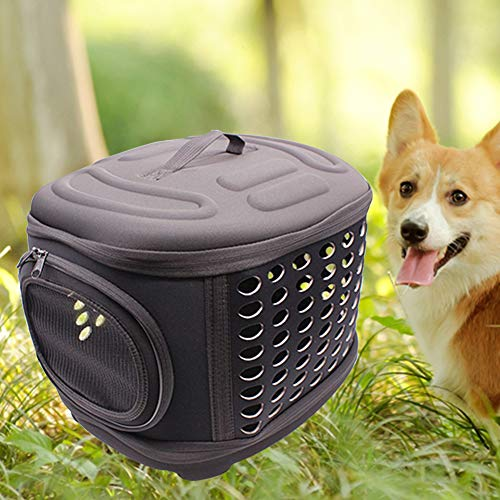 HINMA2 Hard Cover Collapsible Cat Carrier - Pet Travel Kennel with Top-Load  & Foldable Feature for Cats, Small Dogs Puppies & Rabbits