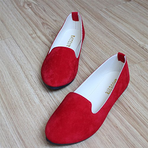 E Basse In Basic Scarpe Elegante Donna Ballerine Ecopelle Moda Rosso q46wFpX