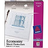 """Avery Economy Clear Sheet Protectors, 8.5"""" x 11"""", Acid-Free, Archival Safe, Top Loading, 50ct (74090)"""
