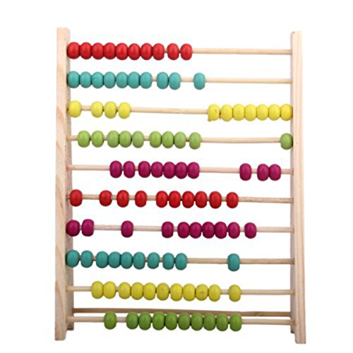 Tinksky Wooden Abacus Counting Number Frame Maths Aid Educational Toy for Kids Children