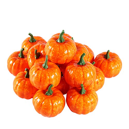 (GLOGLOW Small Plastic Pumpkin Mini Trick-or-treat Halloween Pumpkin Toys Decoration Crafts Home House Kitchen Decoration)