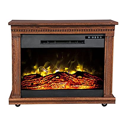 Amazon.com: Heat Surge Roll-n-Glow Amish Fireplace in Dark Oak: Home & Kitchen