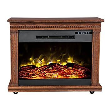 Amazon.com: Heat Surge Roll-n-Glow Amish Fireplace in Dark Oak ...