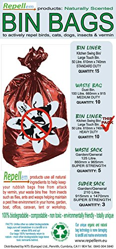 Repellem Extra-Strong Kitchen Swing Bin Bags