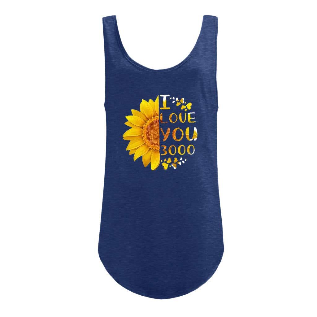 Canotta Allenamento Donna Palestra Fitness Ragazze ┃BYEEEt┃ Shirt Donna Senza Maniche Gilet Sportivi Ti Amo T-Shirt con Stampa Cuciture da 3000 Volte T-Shirt