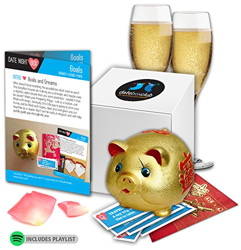DATE NIGHT Box- Our Special Goals Prosperity Pig is adorable and the perfect Date Night. This Creative Date Night for Couples is Ready to Open and Enjoy any time of year. Date Ticket