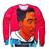 SWAG HIPHIP Hiphop Star Men Sweatshirt 3D Tupac Thug Life Pullover Hoodies Sweater