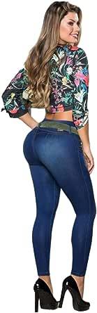 Jeans Colombianos Levanta Cola Resalta tu Figura con Los Pantalones Levanta Pompi de Moda y Alta Elasticidad