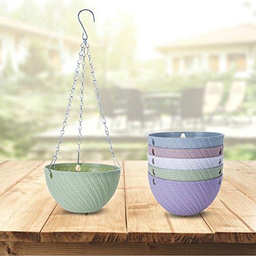 Dproptel 5 Pack Hanging Planter Basket Indoor//Outdoor Flower Pots Plants...