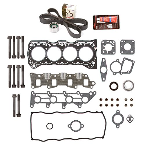 Evergreen HSHBTBK8002 Head Gasket Set Head Bolts Timing Belt Kit Fits 95-97 Suzuki Swift Geo Metro 1.3 8V G13BA