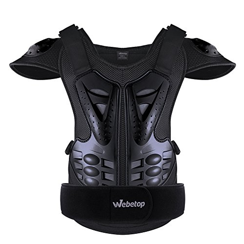 Webetop Adults Dirt Bike Body Chest Spine Protector Armor Vest Protective Gear for Dirtbike Bike Motorcycle Motocross Skiing Snowboarding Black - Body Chest Armor