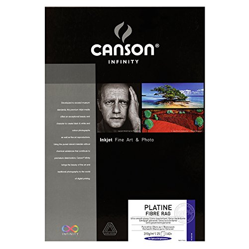 "Canson Infinity Platine Fibre Rag Paper (13 x 19"", 25 Sheets)"