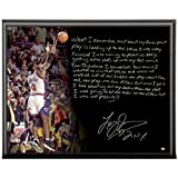 Steiner Sports New York Knicks Larry Johnson Facsimile 4 Point Play Metallic 8x10 Story Plaque