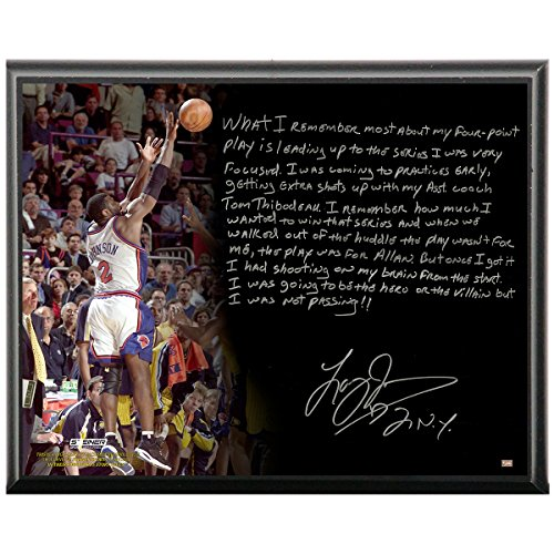 Steiner Sports New York Knicks Larry Johnson Facsimile 4 Point Play Metallic 8x10 Story Plaque by Steiner Sports