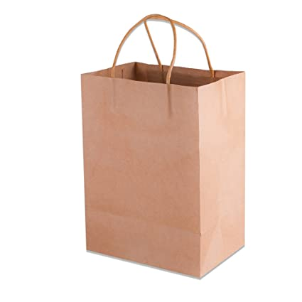 Paper Favor Bags with Handles, Paper Treat Bags, Paper Bags with Handles