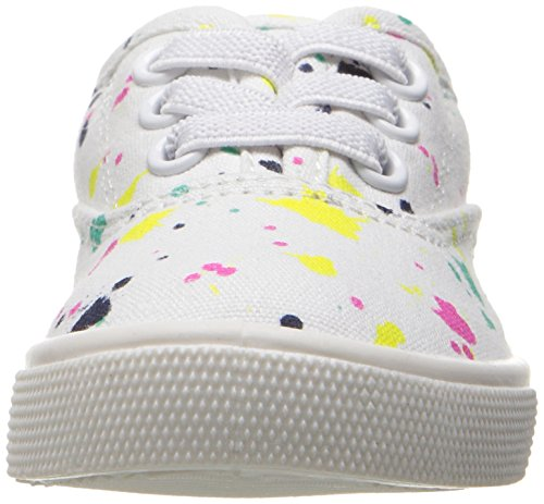 Carter's Piper Girl's Casual Sneaker, White/Print, 10 M US Toddler by Carter's (Image #4)