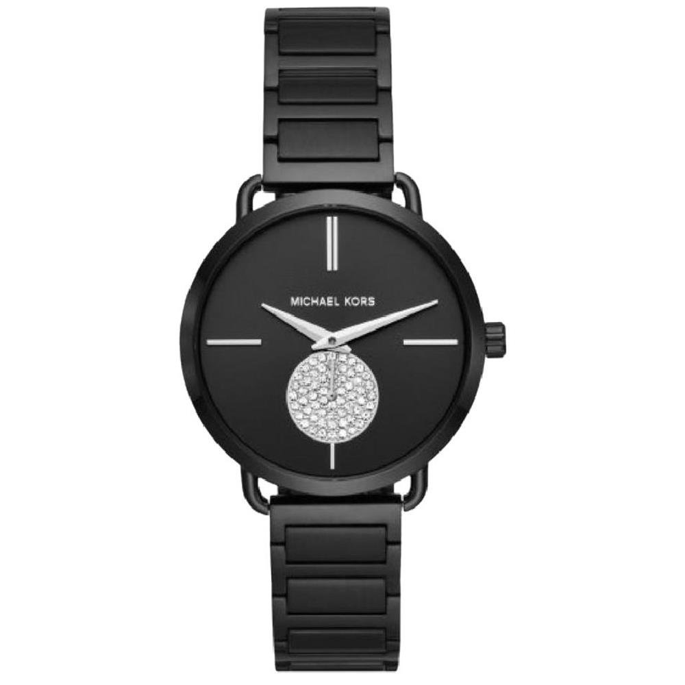 9808bf361f3f Amazon.com  Michael Kors Women s Portia Black One Size  Michael Kors   Watches