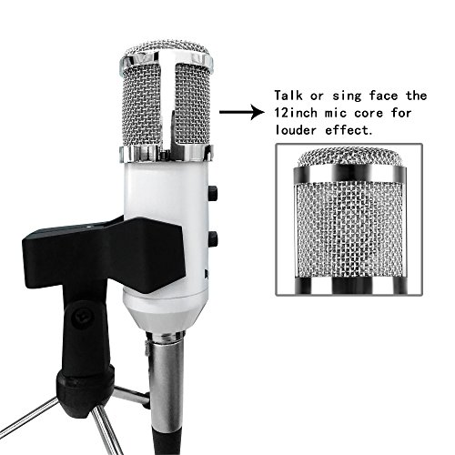 USB Condenser Mic Fifine Plug & Play Desktop Microphones For PC/Computer(Windows, Mac, Linux OX), Podcasting, Recording-White(K056) by FIFINE TECHNOLOGY (Image #8)