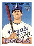 2016 Topps Heritage High Number #683 Whit Merrifield Kansas City Royals Baseball Rookie Card in Protective Screwdown Display Case