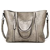 Women Bag Casual Vintage Shoulder Bag Handbags Cross Body Bag Large Capacity Bags Gray JUNDUN