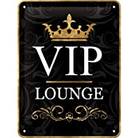 Nostalgic-Art 26123 Achtung VIP Lounge, Cartel de Chapa