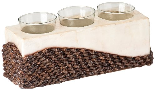 Terragrafics Island Lakes Mitra and Capriz Triple Votive Holder