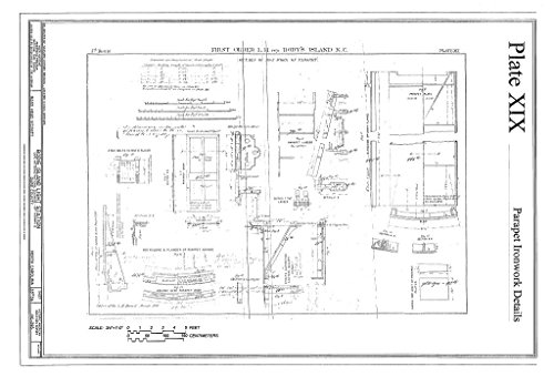 Historic Pictoric Blueprint Diagram HABS NC-395 (Sheet 33 of 36) - Bodie Island Light Station, Off Highway 12, Nags Head, Dare County, NC 12in x 08in