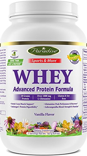 Paradise Herbs Sports & More Amazing Whey Vanilla, 6.4 (Extreme Vanilla Extract)