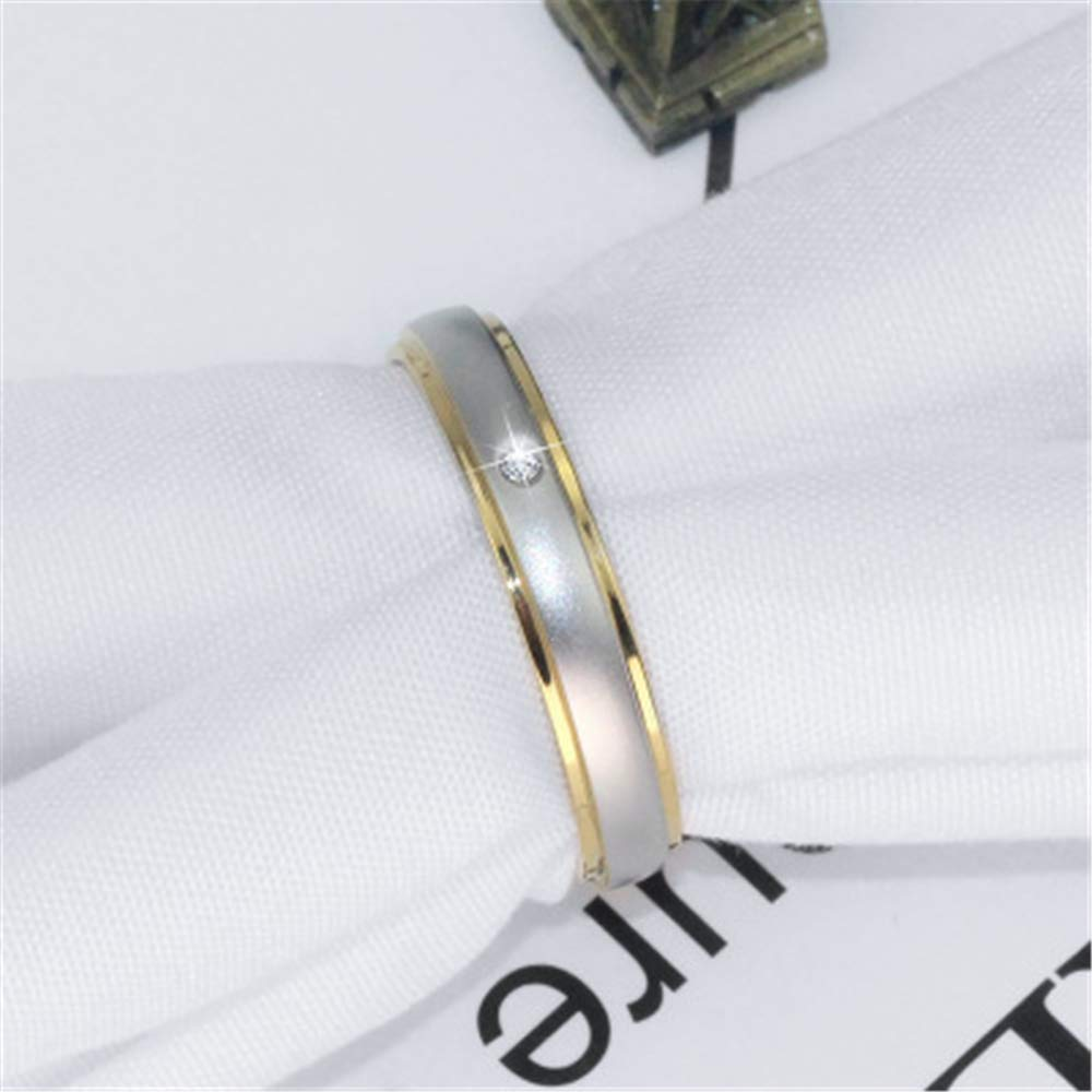 8.5 Smart.A Couple Ring Ring Ring Simple Couple Diamond Ring