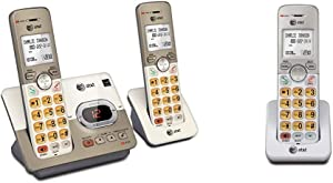 AT&T EL52213 2-Handset Expandable Cordless Phone with Answering System & Extra-Large Backlit Keys & EL50003 Accessory Cordless Handset, White