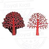Retro Floral Design Chestnut Tree Wooden Printing